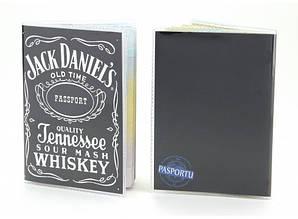 Обкладинка вінілова на паспорт Джек Деніелс