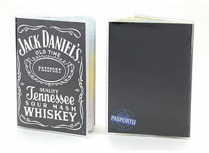 Обложка виниловая на паспорт  Джек Дениелс