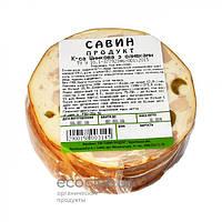 Колбаса ветчинная с оливками Савин продукт 1кг