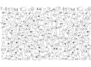 Обои-раскраски Веселые коты 60х100см