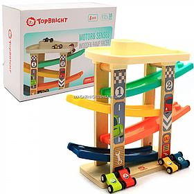 Ігровий набір TopBright паркінг швидкісний спуск, 5 рівнів, 4 машинки (120272)