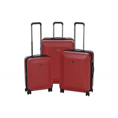 """Набор пластиковых чемоданов, Wenger Matrix Set, (20""""/24""""/28""""), 4 колеса, красный"""