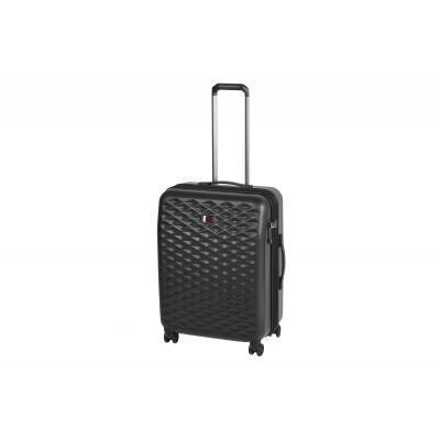 Чемодан пластиковый Wenger, Lumen, 4 колеса, сердня (чорна)