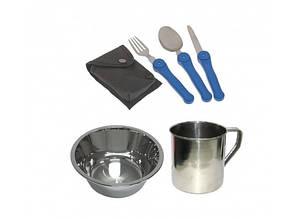 Набор посуды туристический из нержавейки  5в1
