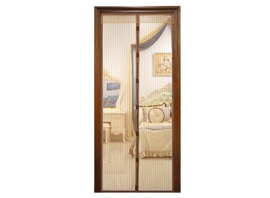 Дверная антимоскитная сетка Magnetic Mesh на магнитах коричневая