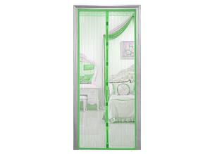 Дверная антимоскитная сетка Magnetic Mesh на магнитах зеленая