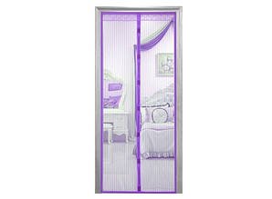 Дверная антимоскитная сетка Magnetic Mesh на магнитах фиолетовая