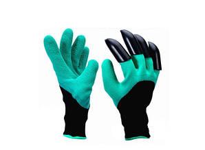 Садовые перчатки с пластиковыми наконечниками Garden gloves