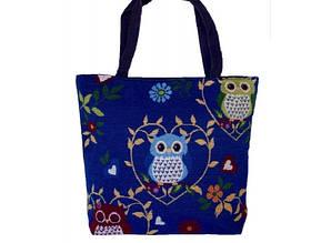Летняя текстильная сумка для пляжа и прогулок Совы