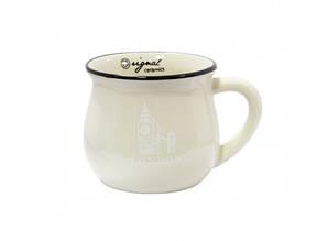 Чашка кувшин керамическая Zakka, бежевая, 250 мл. L.O.N.D.O.N. Лондон