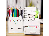 Подставка - органайзер для канцелярских предметов и мелочей Белая