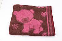 Одеяло жаккардовое детское полушерстяное Vladi Снежок (Влади) Розовый 100х140 Шерсть 50% (3100)