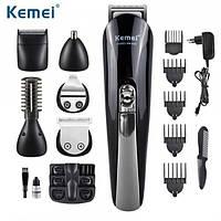 Бритва триммер для стрижки Kemei KM-600 11in1 с подставкой. Машинка для стрижки