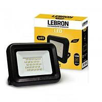 LED прожектор Lebron LF, 10W, 6200K, 800Lm, кут 120° , 170-265V, шт  (LEB 00-15-11)