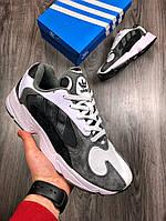 Мужские кроссовки в стиле Adidas Yung-1 Gray/White, серые 42 (26,5 см по стельке)
