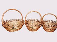 Набор корзиночек для подарков и цветов зучиковые
