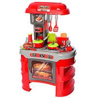 Игровой набор для девочки Кухня 008-908 (Красный) (световые и звуковые эффекты, в наборе продукт и посуда)