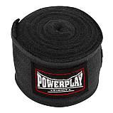 Бинти для боксу PowerPlay 3047 4 м Чорні (PP_3047_4m_Black), фото 4