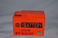 Аккумулятор 12V 2,3Ah гелевый (113х49х85) YTR4A-BS ( оранжевый ) BATTERY
