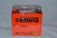 Аккумулятор 12V 9Ah гелевый высокий (137х76х134) YB9-BS (оранжевый) BATTERY