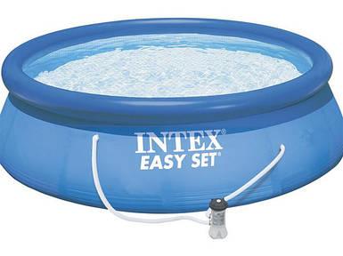 Бассейн надувной Intex 28142 (396х84 см.) с фильтр-насосом