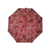 Женский зонт полуавтомат с изображением буковок от фирмы Max, бордовый, 2004-2