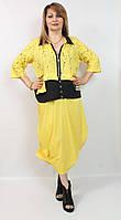 Красивое женское  платье с рукавами 3/4  Pompadur  Турция рр 54-66