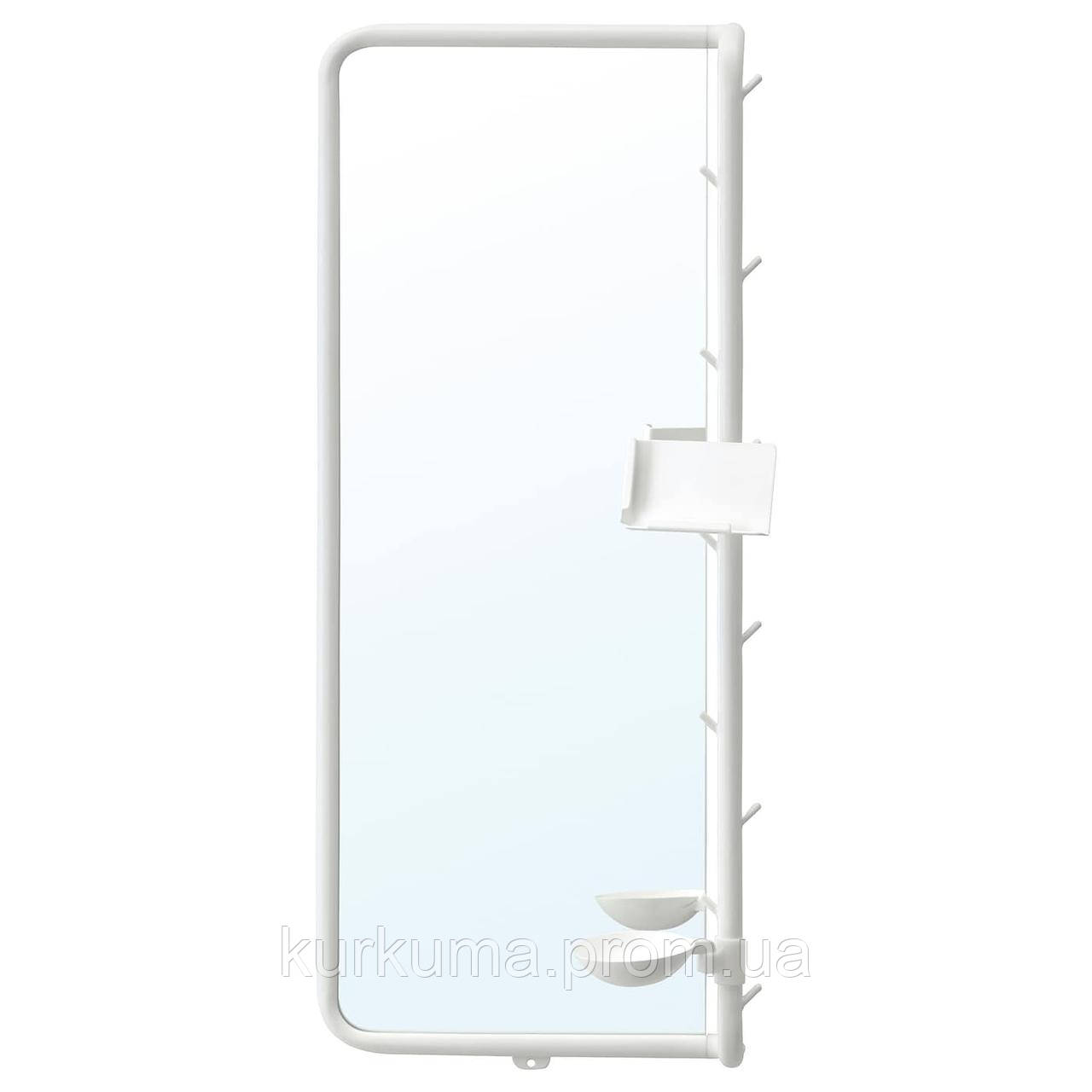 IKEA MOJLIGHET Зеркало, белое, 34х81 см (704.213.75)