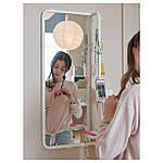IKEA MOJLIGHET Зеркало, белое, 34х81 см (704.213.75), фото 2