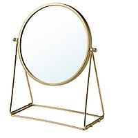IKEA LASSBYN Настольное зеркало, золотистый цвет, 17 см (304.710.32)