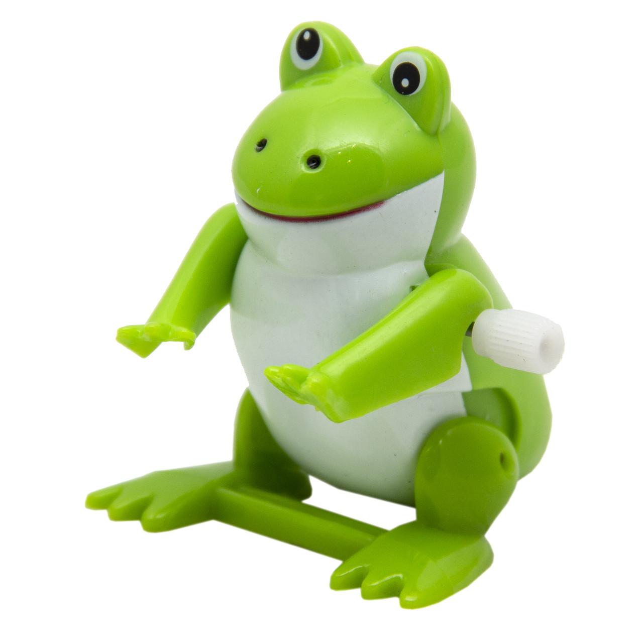 Игрушка заводная - жабка, 5 см, пластик, зеленый (2K-66C-4)
