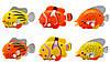 Іграшка заводна - рибка, 6,5 см, помаранчевий в горошок, пластик (8031A-3-5), фото 4