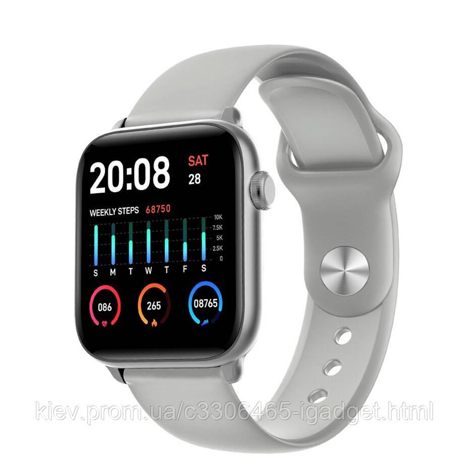 Умные часы King Wear KW37 с пульсометром (Серый)