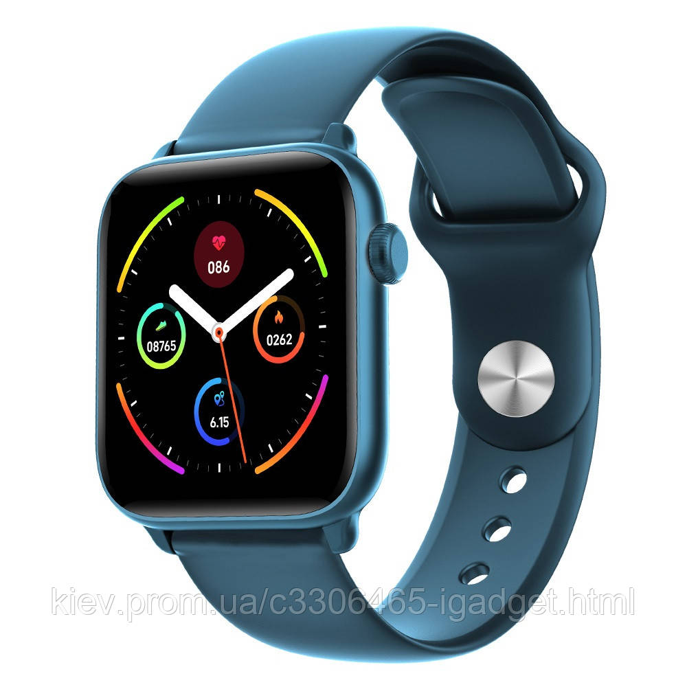 Умные часы King Wear KW37 с пульсометром (Синий)