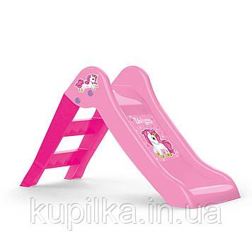 Детская горка DOLU розовая (2501)