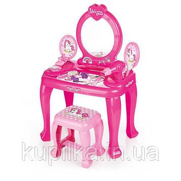 Детское игровое трюмо DOLU с набором аксессуаров розовое (2561)