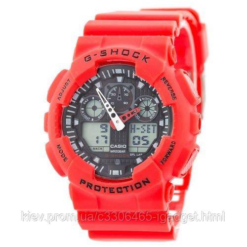 Casio G-Shock GA-100 Red-Black