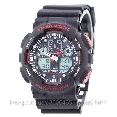 Casio G-Shock GA-100 Black-Red