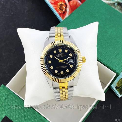 Rolex Date Just Silver-Gold-Black