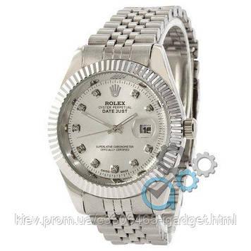 Rolex Date Just All Silver