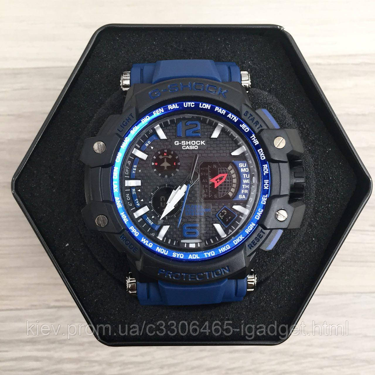 Casio G-Shock GPW-1000 Black-Blue Wristband