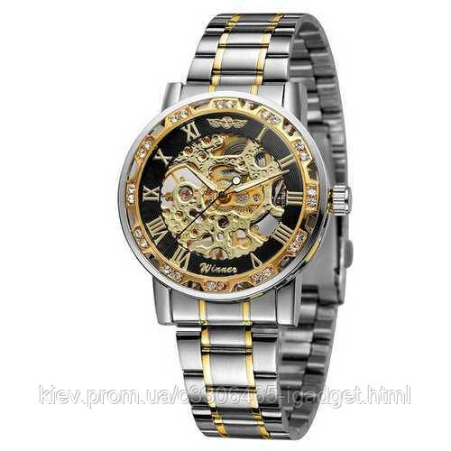 Winner 8012 Diamonds Automatic Silver-Black-Gold