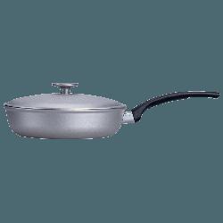 Сковорода Talko с рифленым дном и крышкой 26 см