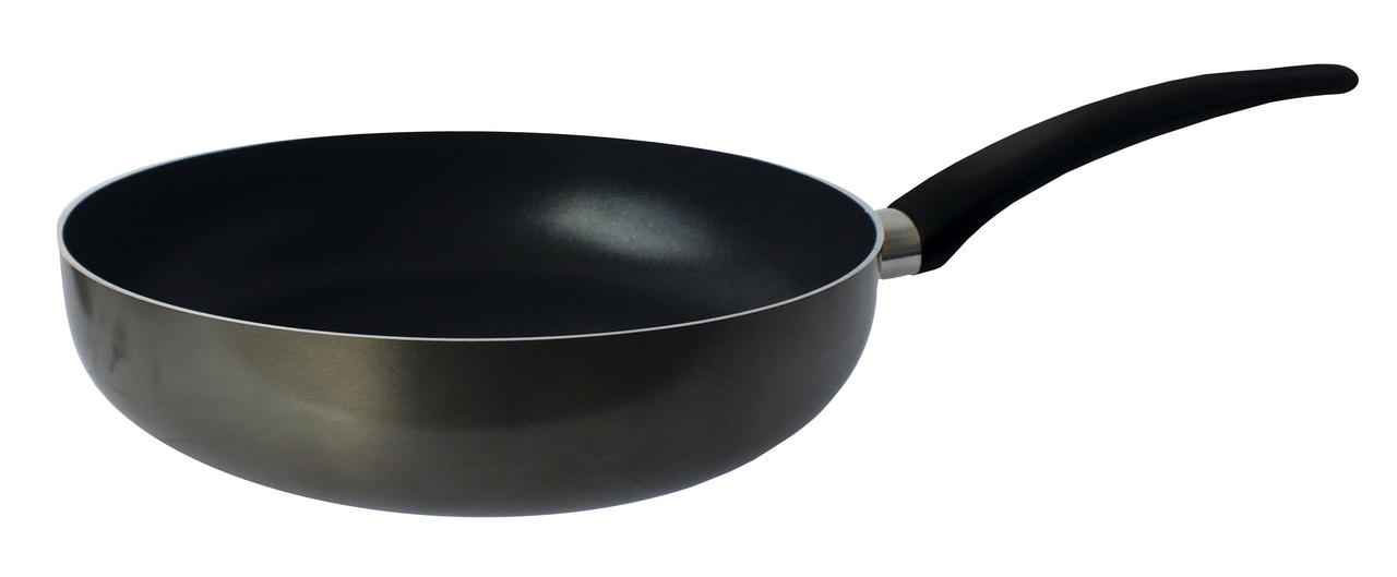 Сковорода Gusto GT-2101-22 22 см Глибока Xylan Оливковий