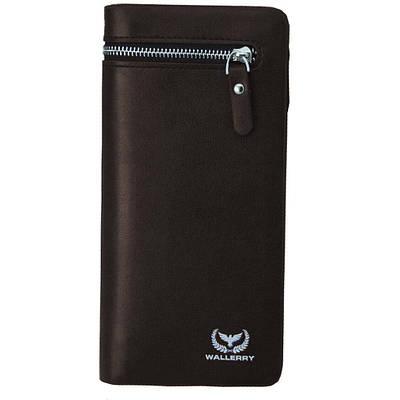 Мужское портмоне кошелек 618 Wallerry Черный 154288