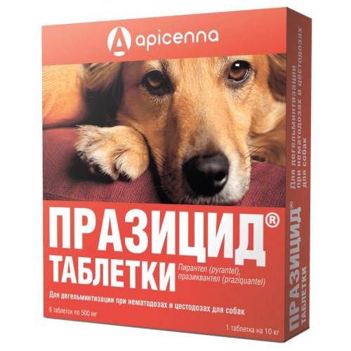 Таблетки Api-San Празицид против глистов для собак 6 x 500 мг