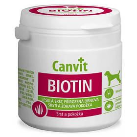 Вітамінна добавка Canvit Biotin for Dogs для відновлення вовни під час линьки у собак, 230 г