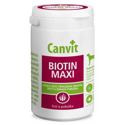 Витаминная добавка Canvit Biotin Maxi for Dogs для восстановление шерсти во время линьки у собак, 230 г, фото 2