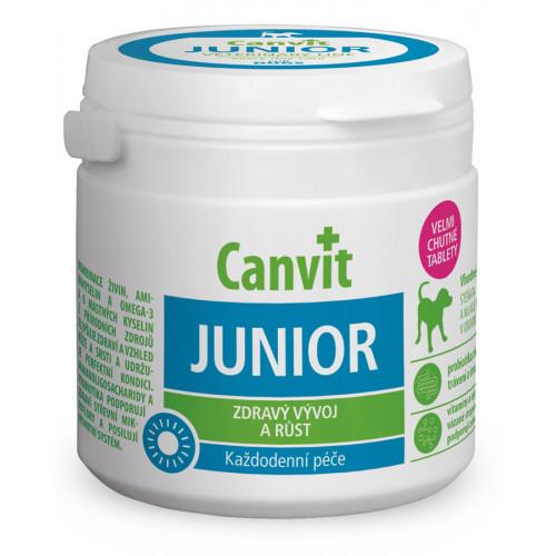Вітамінна добавка Canvit Junior for Dogs для підтримки здорового розвитку для цуценят і молодих собак, 230 г