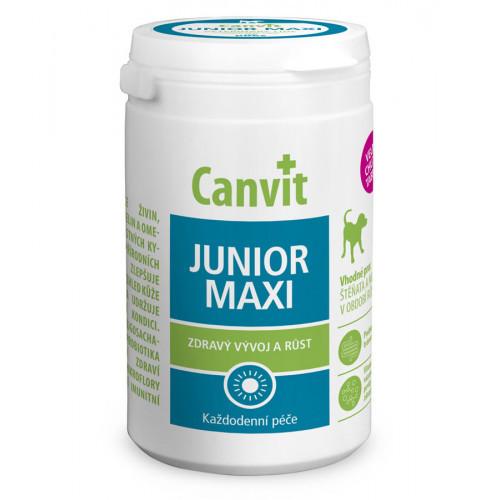 Вітамінна добавка Canvit Junior Maxi for Dogs для підтримки здорового розвитку для цуценят і молодих собак, 230 г